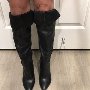Guess thigh high black boots